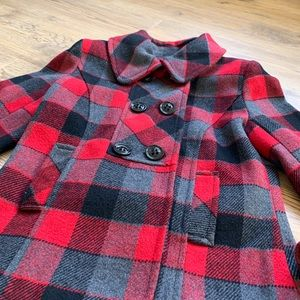 Co Sona Plaid Red & Black Blazer Size S.